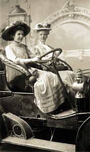 ladies in car